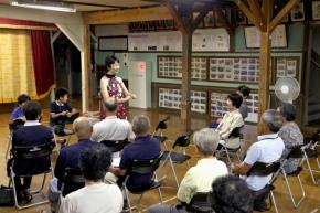 旧宇野小学校で今年も中山敬子さんがピアノコンサートを行いました。